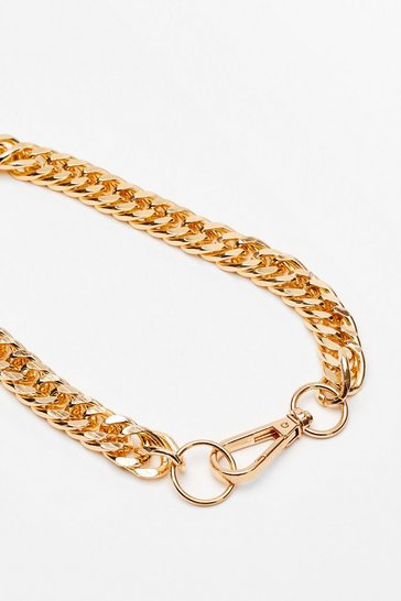Gold It's Within Your Clasp Chunky Chain Necklace
