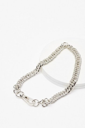 Silver It's Within Your Clasp Chunky Chain Necklace