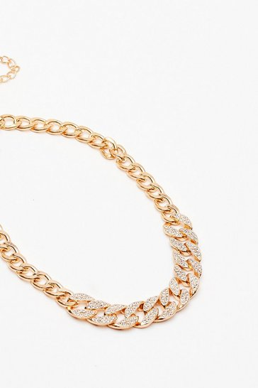Gold Do the Right Bling Chunky Chain Necklace