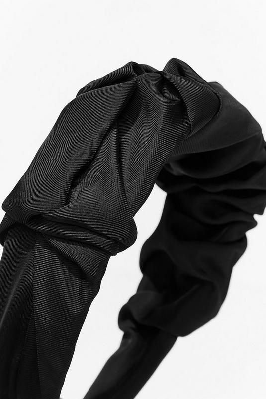Oversized Ruched Satin Headband | NastyGal (UK, IE)