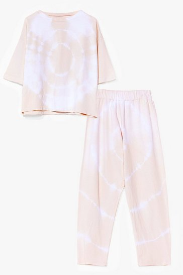 Cream Nights Like This Tie Dye Tee and Jogger Set