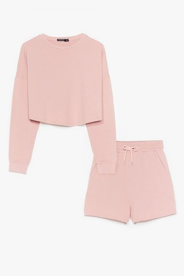 Rose You and Me Together Sweatshirt and Shorts Set