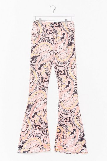 Pink Paisley Flare