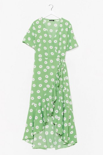 Green You Say I'm Daisy Plus Midi Dress