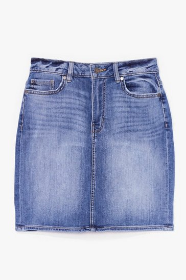 Blue Wear the Denim Mini Skirt