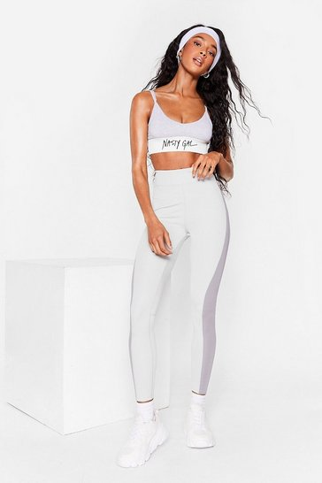 Grey Two Tone High Waisted Workout Leggings