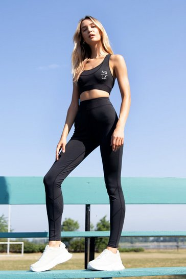 Black Cut Straight to It Workout Leggings