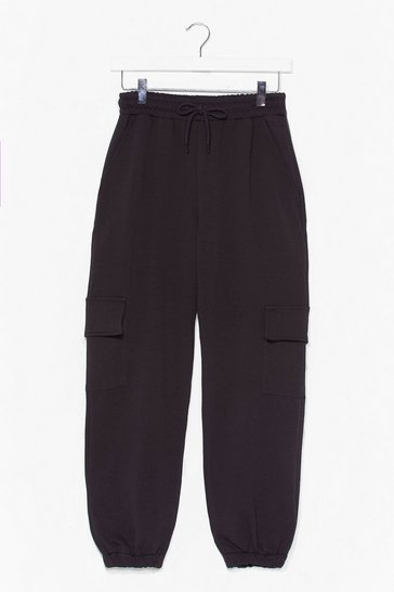 Black Pocket Ready to Launch Cargo Jogger Pants