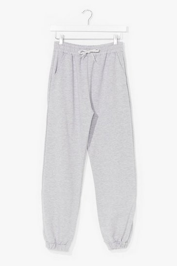 Grey marl It'll Work Out High-Waisted Joggers
