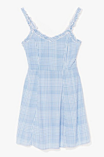 Blue Picnic This Check Mini Dress