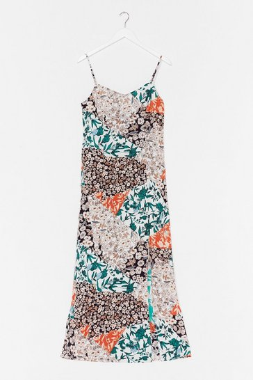 Orange Mix Things Up Floral Maxi Dress