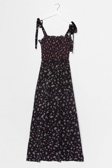Black Growing You Off Floral Maxi Dress