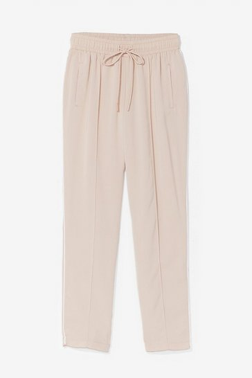 Beige Maybe Tomorrow High-Waisted Jogger Pants