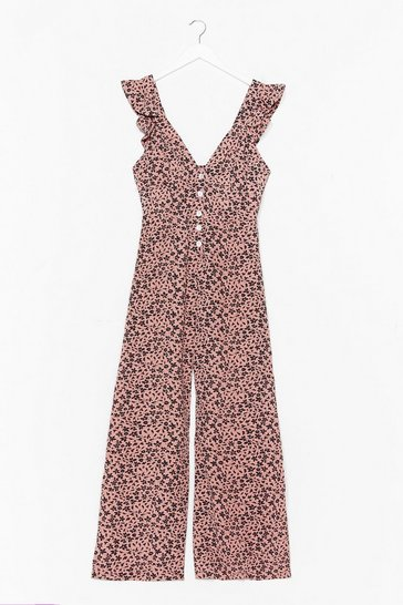 Black Bud to Know Floral Culotte Jumpsuit
