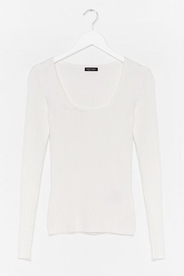 Ivory Square's Always Later Ribbed Fitted Top
