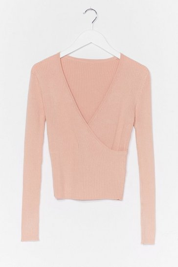 Nude Wrap It Up Ribbed Knit Top