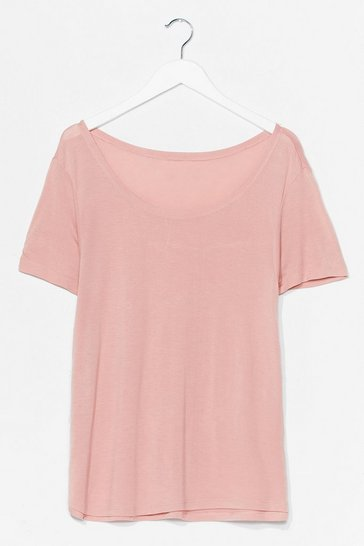 Nude Soft Spot Scoop Neck Relaxed Tee