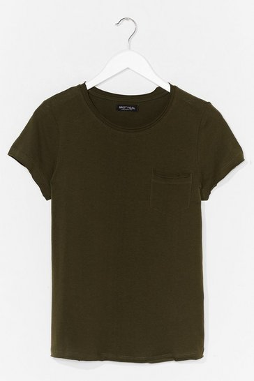 Khaki On Top of the World Cotton Tee