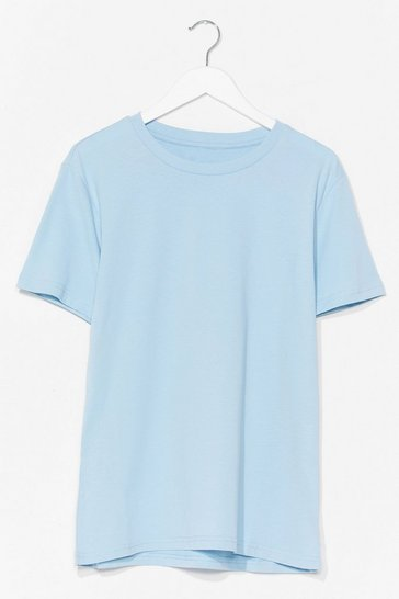 Blue Cotton My Watch Relaxed Tee