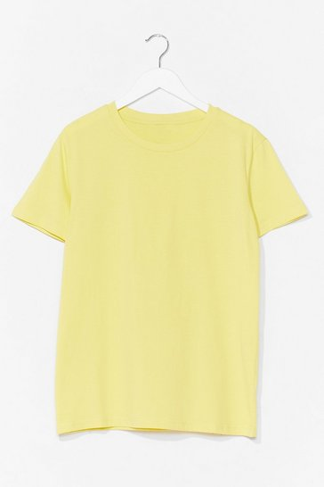 Lemon Cotton My Watch Relaxed Tee