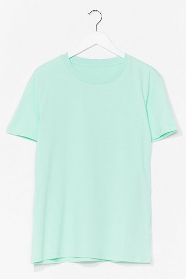Mint Cotton My Watch Relaxed Tee
