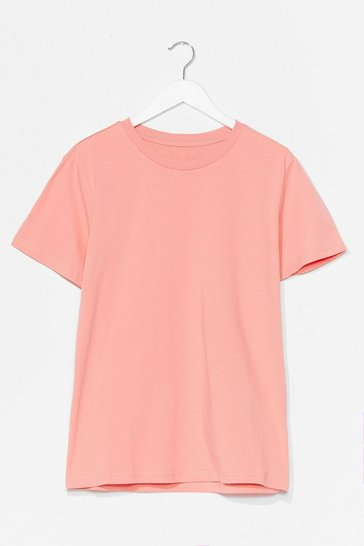 Peach Cotton My Watch Relaxed Tee