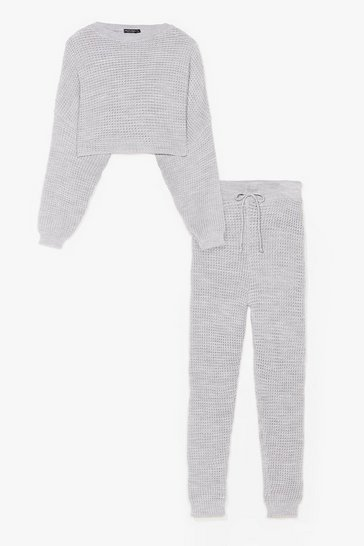 Grey Knit Wasn't Me Joggers Lounge Set