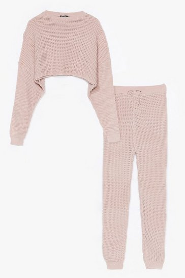 Nude Knit Wasn't Me Joggers Lounge Set
