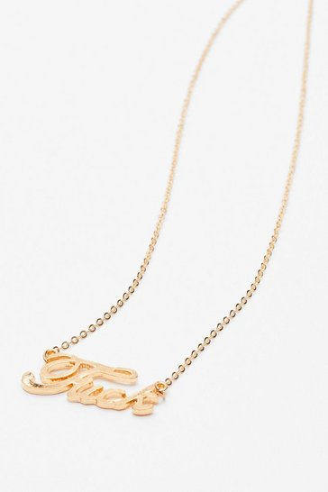Gold Fuck Italic Necklace