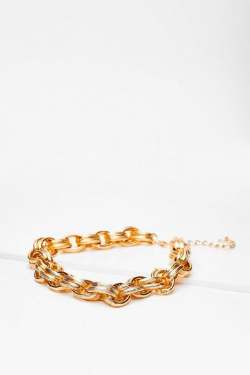Gold Your Chain of Events Chunky Link Necklace