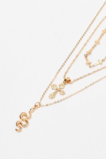 Gold Snake Layered Necklace