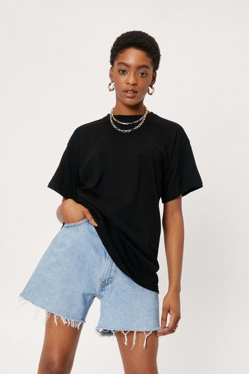 Black Face the Facts Relaxed Tee