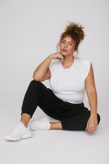 Black Plus Size Soft Jersey Sweatpants