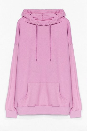 Lilac The Wait is Over-sized Plus Hoodie