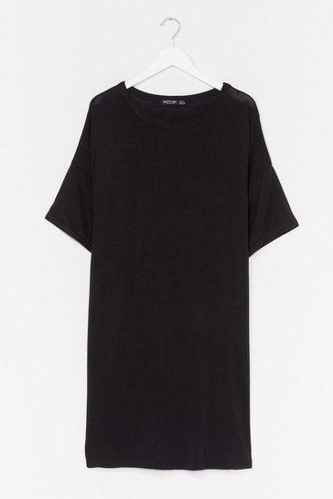Black Drop Topic Plus Tee Dress