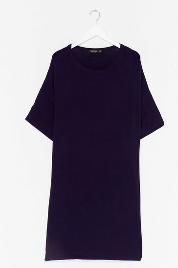 Navy Drop Topic Plus Tee Dress