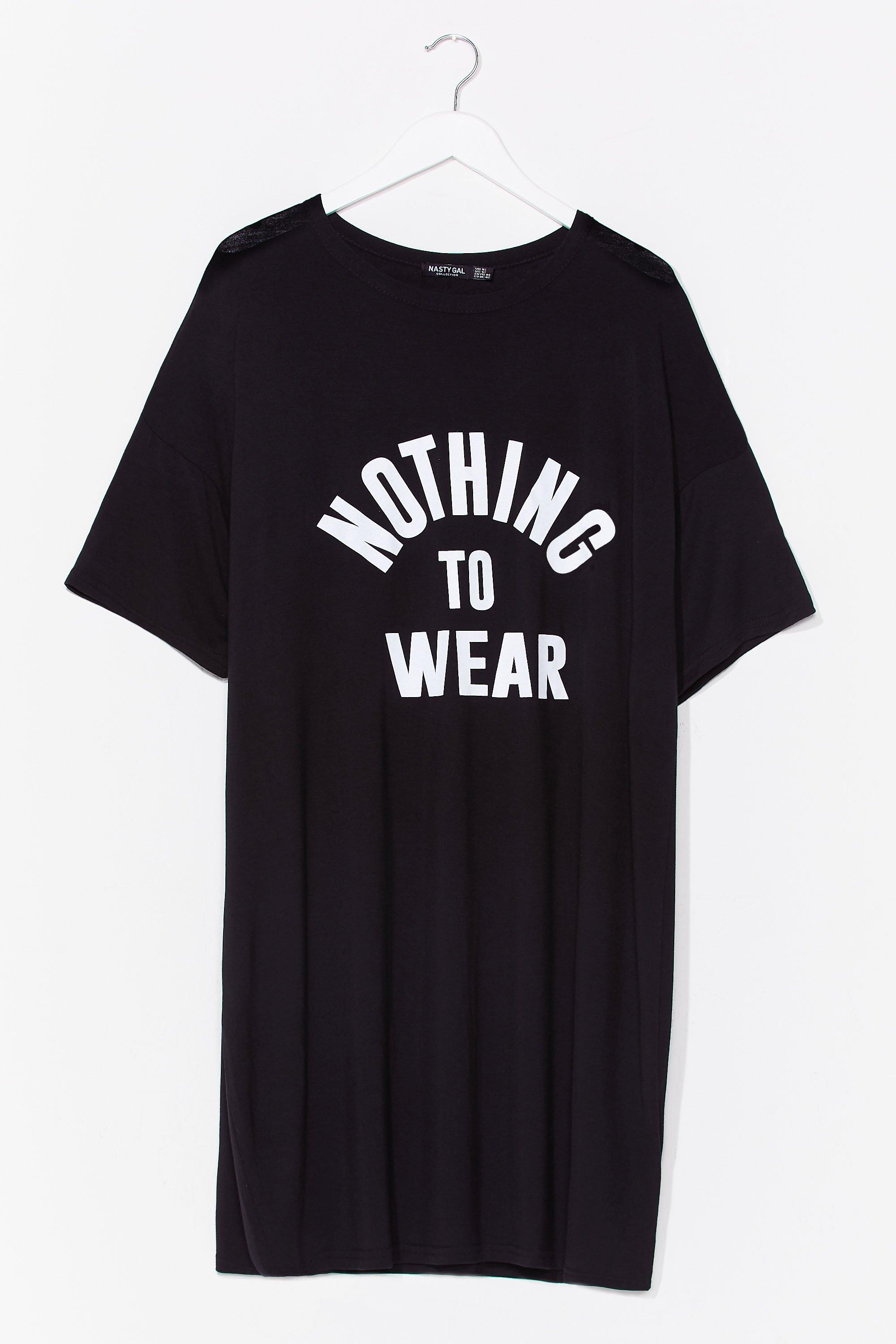 Nothing to Wear Plus Graphic Tee Dress 6