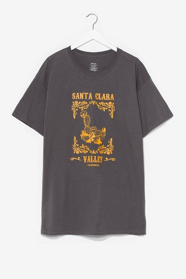 Charcoal Santa Clara Valley Plus Graphic Tee