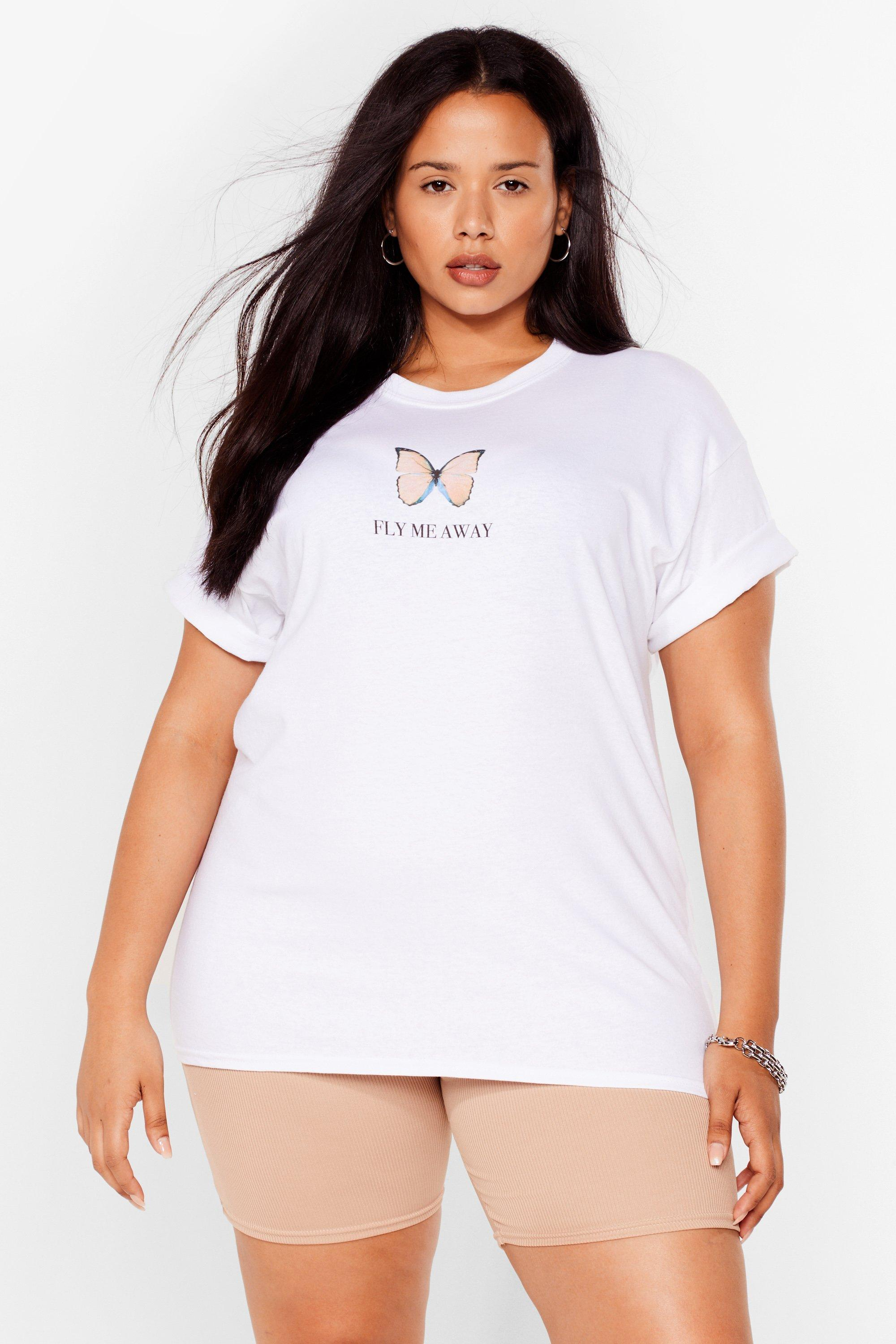 Fly Me Away Butterfly Plus Graphic Tee 6