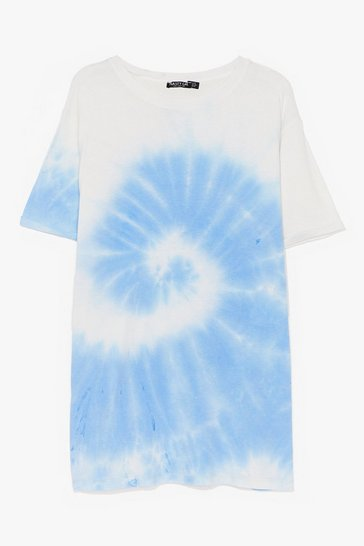 Blue You're a Swirlwind Baby Tie Dye Plus Tee