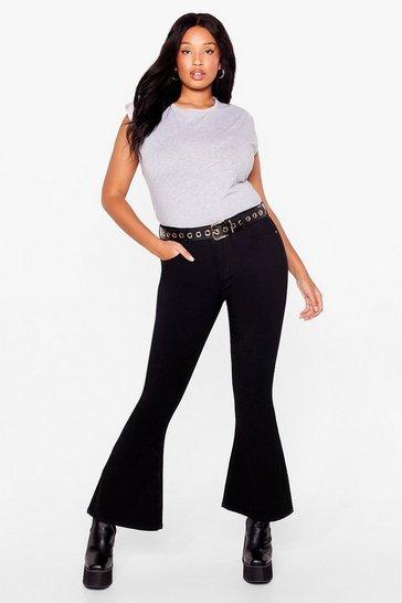 Black Raw the Line Plus Mom Jeans