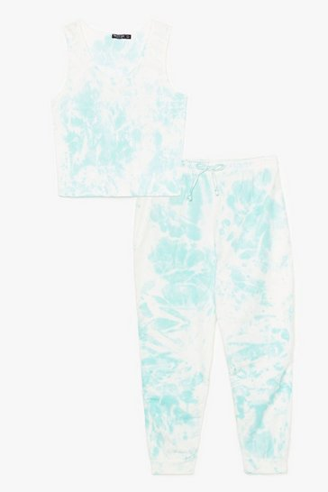 Mint Stay Bright There Plus Tie Dye Lounge Set