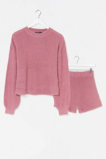 Rose Something About You Knit Jumper and Shorts Set