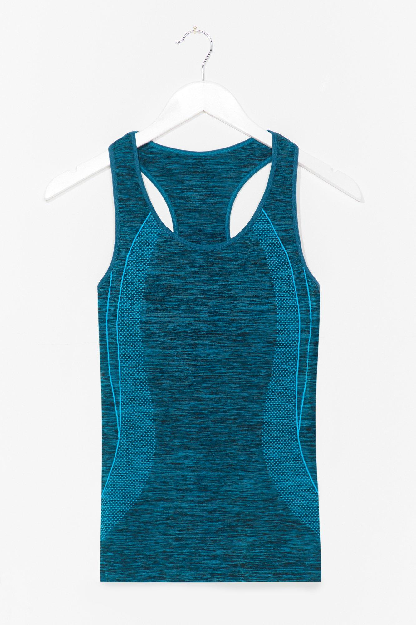 And Breathe Contrast Racerback Workout Top