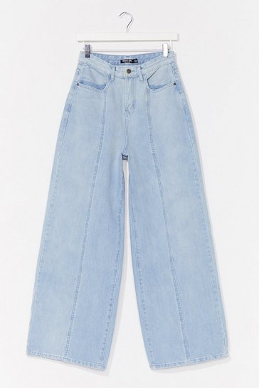 Light blue Easy as It Seams Wide-Leg Jeans