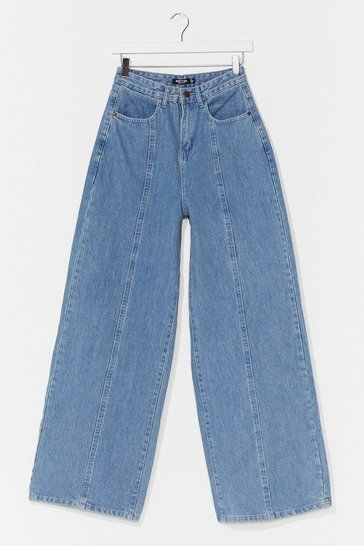 Vintage blue Easy as It Seams Wide-Leg Jeans