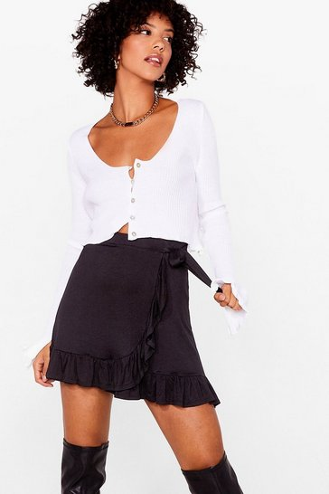 Black Frill of the Night Ruffle Mini Skirt