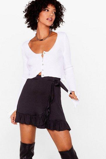 Black Frill of the Night Ruffle Mini Skirt
