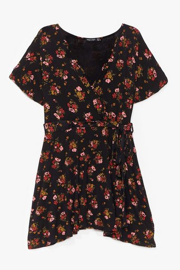 Black Sunday Kinda Love Floral Mini Dress