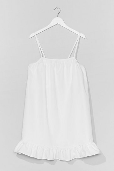White What Frill It Be Strappy Mini Dress